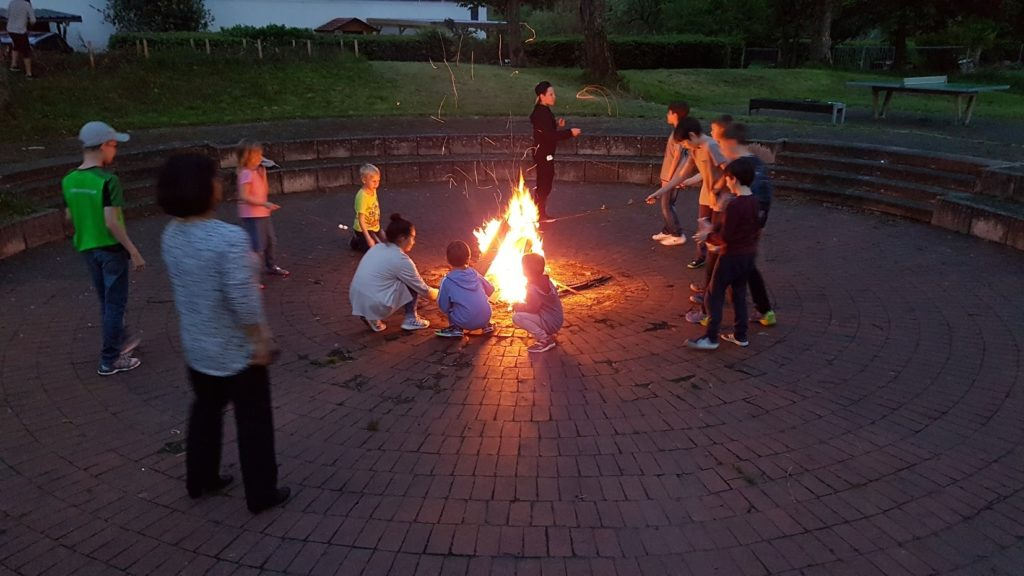 Marshmallows am Lagerfeuer waren der Hit